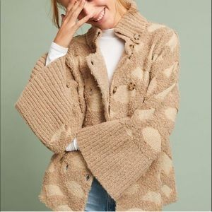 Anthro Rosie Neira Spotted Cardigan Sweater